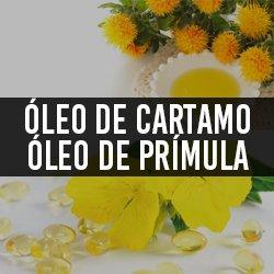 Óleo de cartamo (Ômega 6 e 9) e Óleo de Prímula