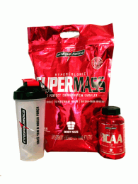 Combo Super Mass 3kg + BCAA Top 120 caps + Shakeira