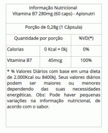 Vitamina B7 - 280mg (60 caps)